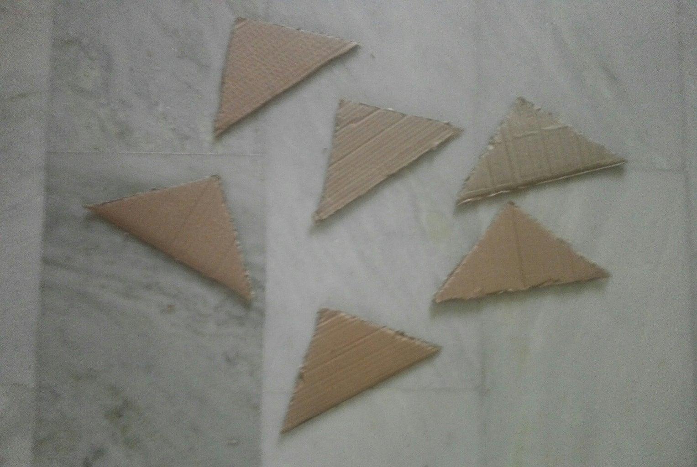Cutting the Cardboard..