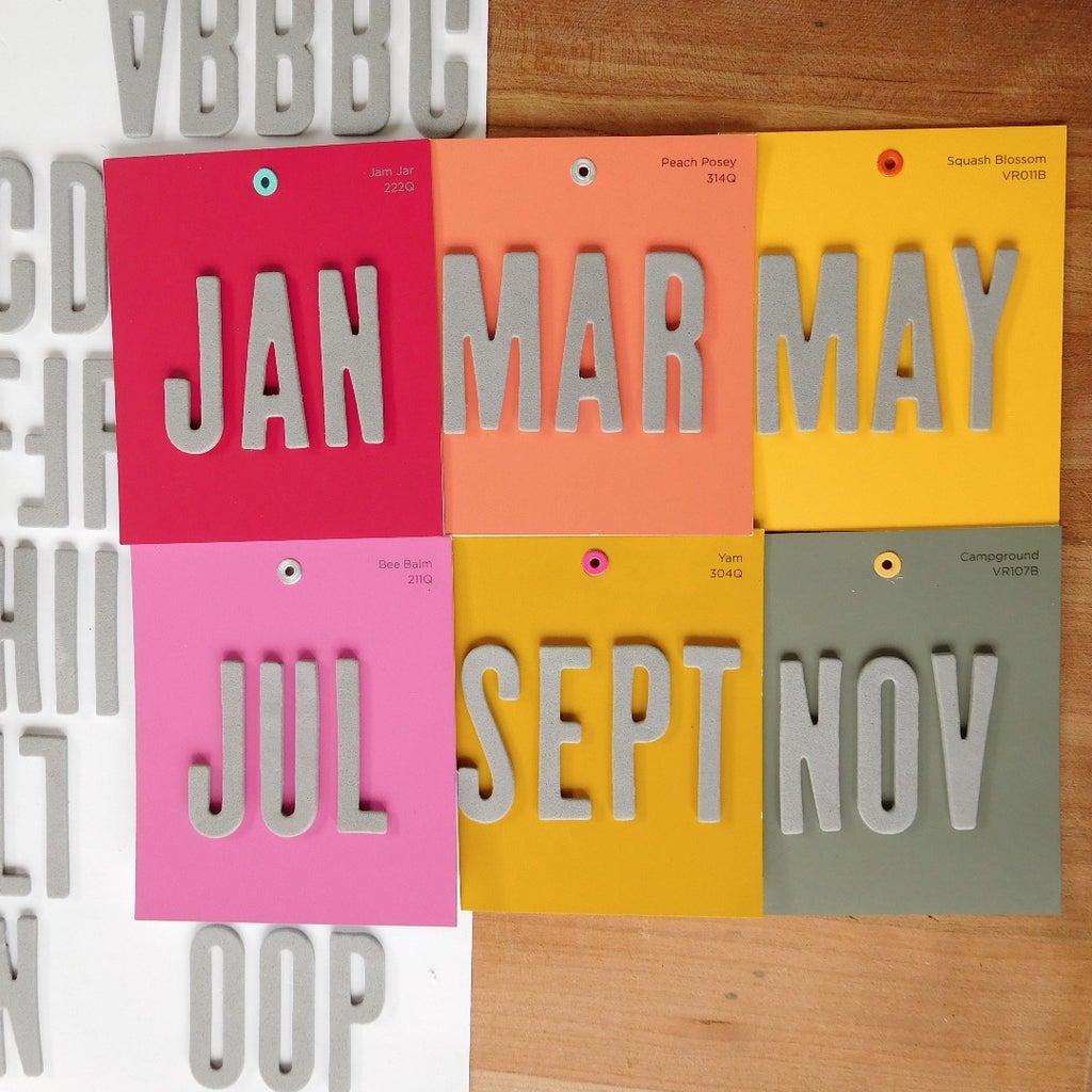 Add Stickers for Calendar Months