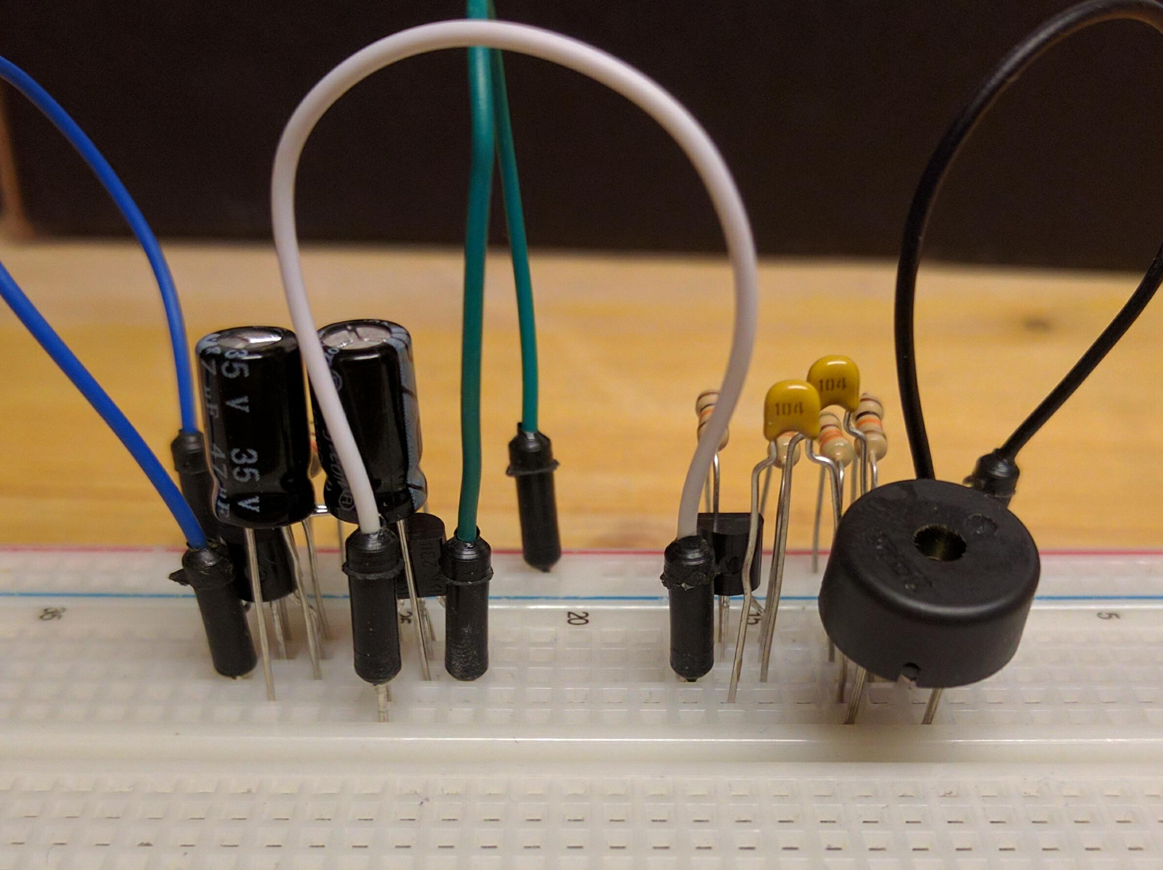 Transistor alarm beeper