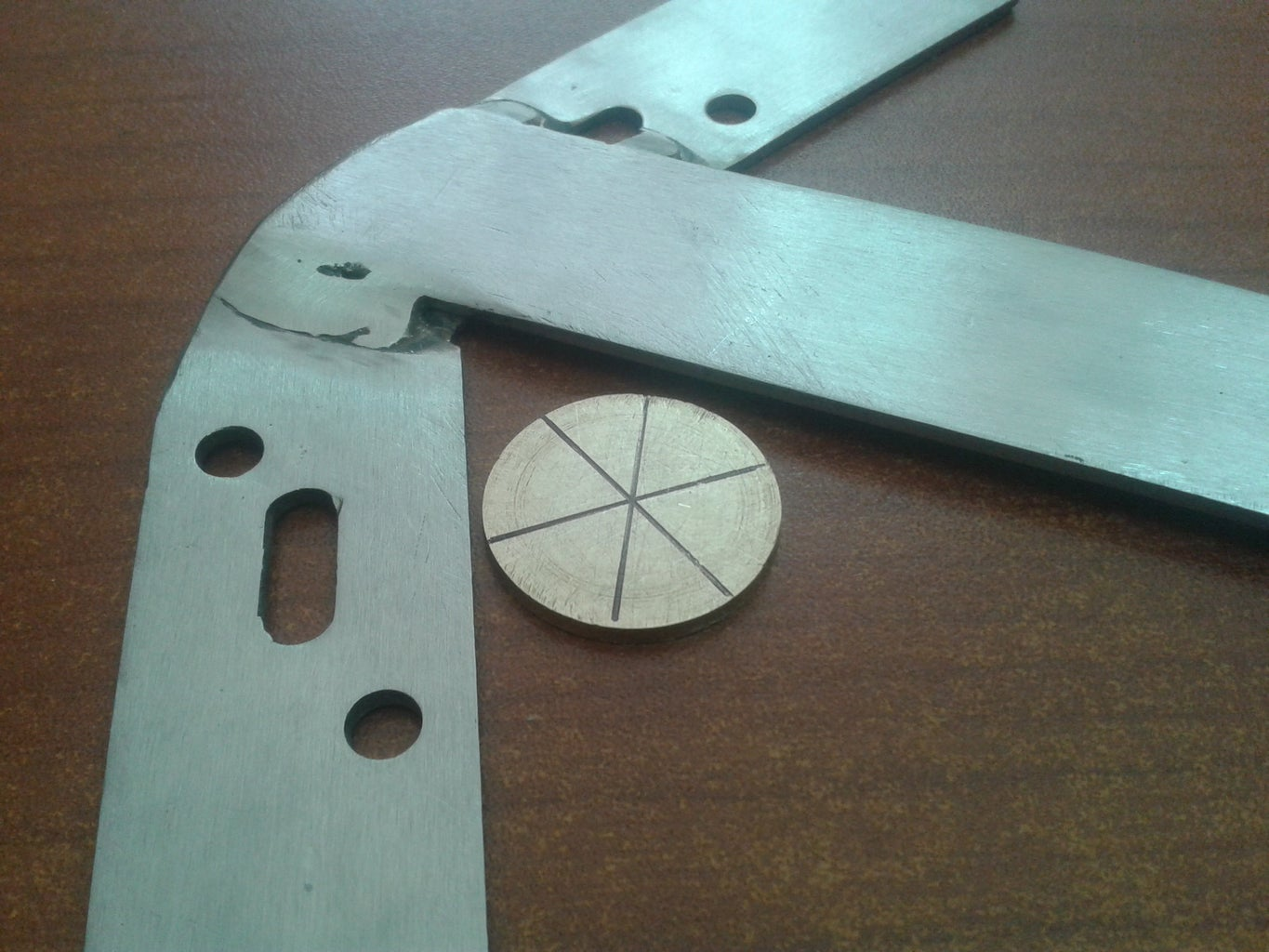 DIY Circle Center Finder Tool, Stainless Steel Made