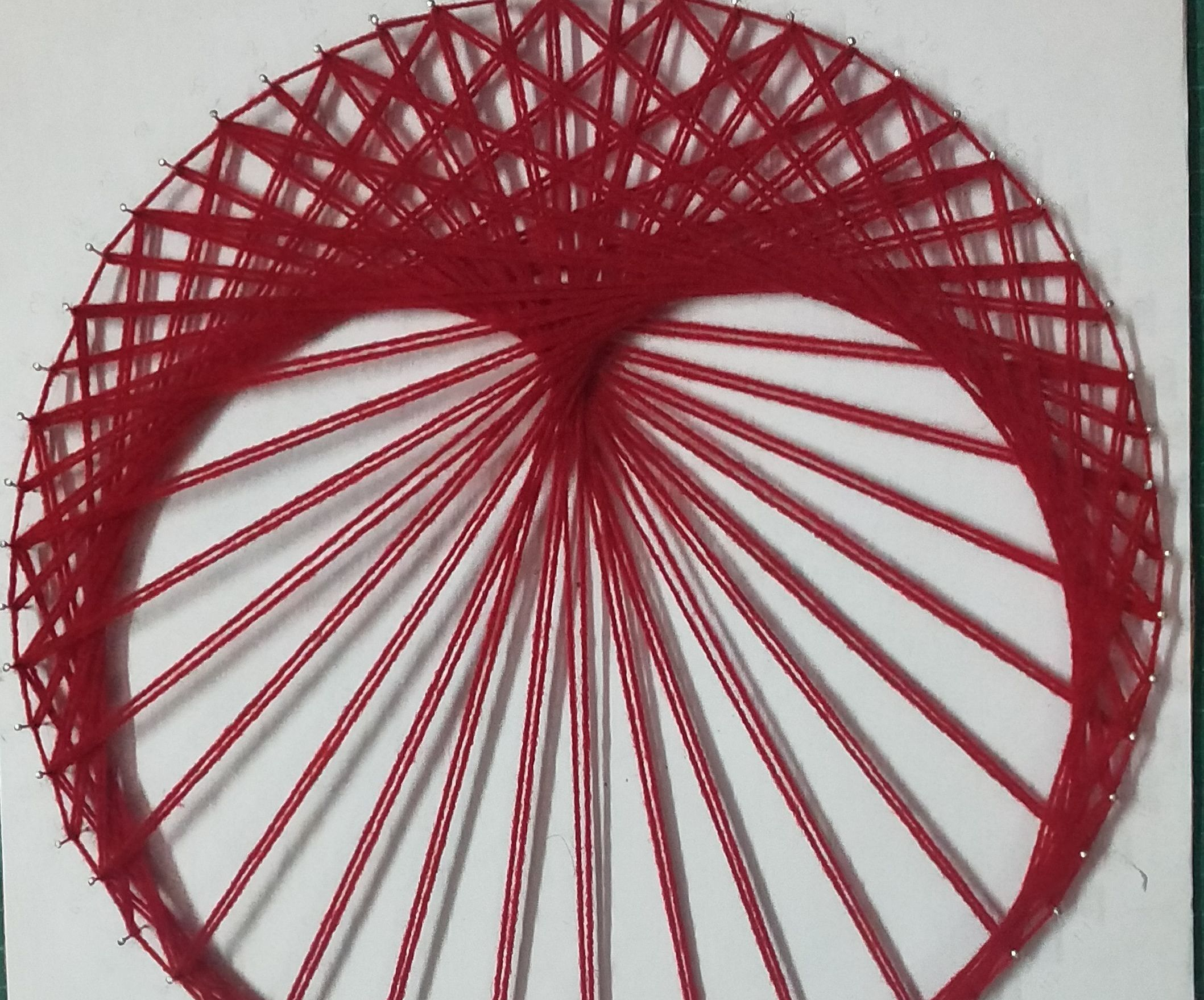 String Art Cardioid Using Two Times Table