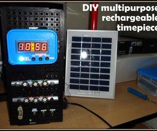 DIY ClockBlock (a Multipurpose Rechargeable Timepiece)