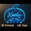 3D Printed Plexiglass LED Sign