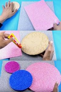 Let's Paste Glitter Sheets!