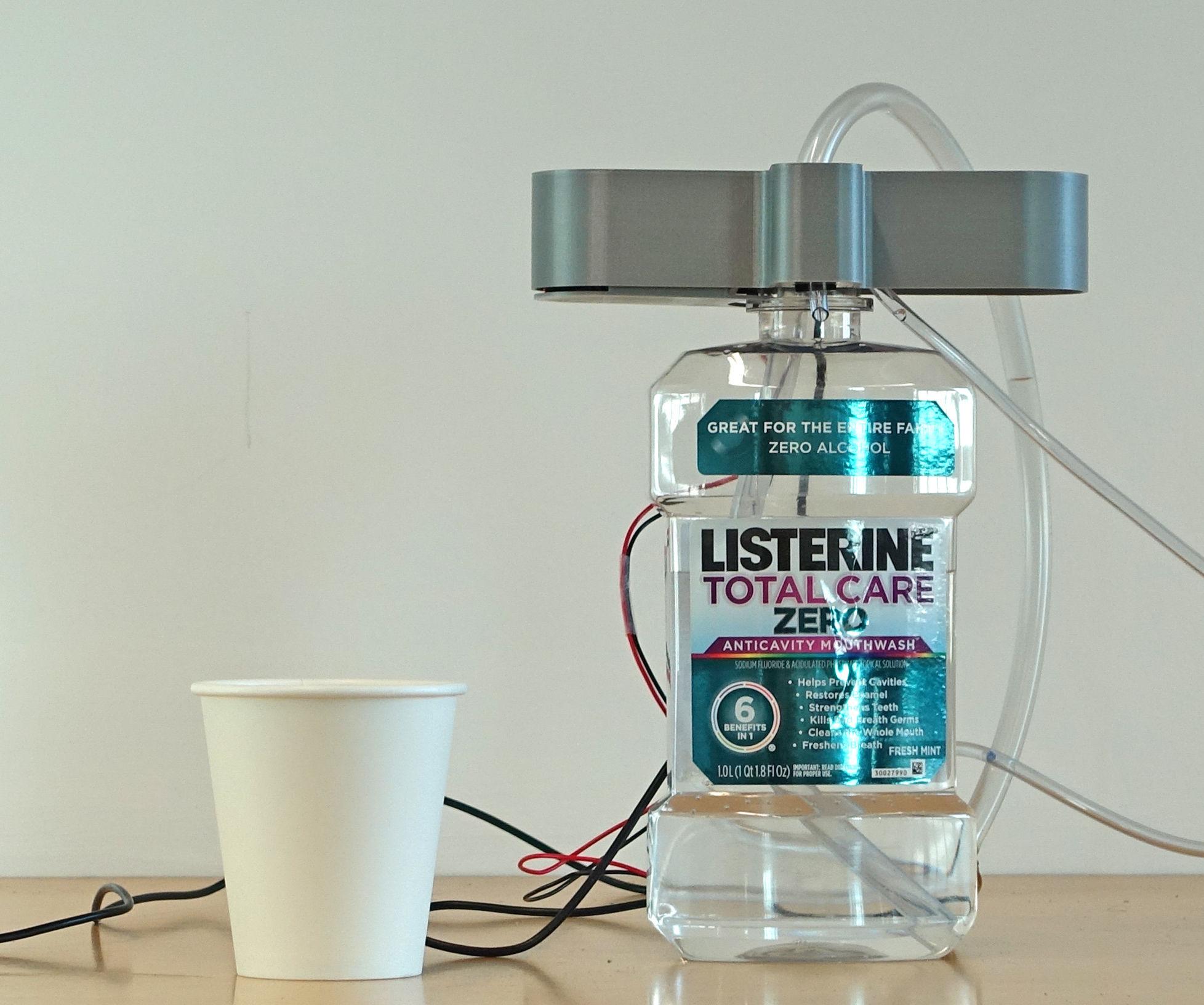Smart Mouthwash Dispenser: Dispenses the Right Amount Based on the Stinky Level