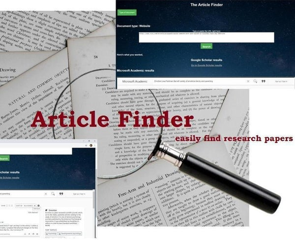 Article Finder: Find Any Research Paper for Your Project
