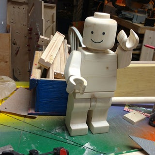 Giant Wood Lego Man (from a Single 2x4!)