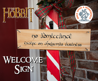 Hobbit Christmas Sign