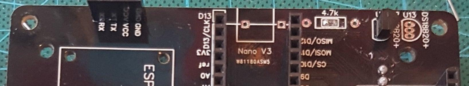Solder the Dallas DS18B20 Temperature