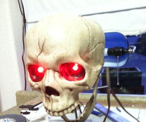 Interactive Arduino Skull