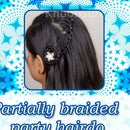 Partially Braided Party Hairdo