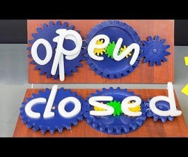How to Make a Magical Rotating Open / Closed Sign Board
