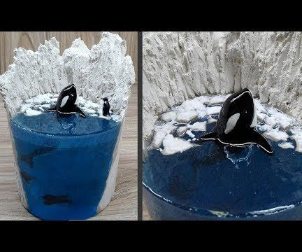 Killer Whale (orca) Resin Art   Diorama