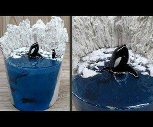 Killer Whale (orca) Resin Art | Diorama