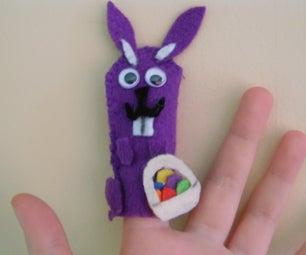 Easter Rabbit Finger Puppet