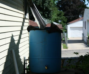 Rain Water Collector Water Tower W/ Automatic Overflow