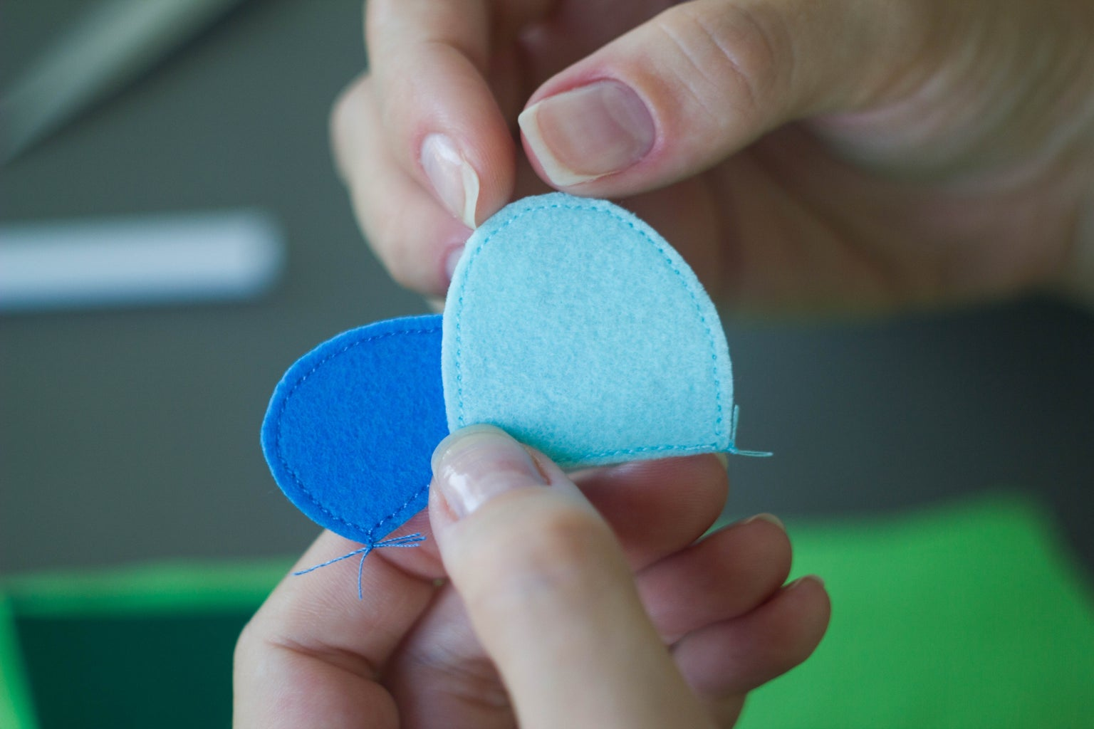 """Sew the Felt Elements Into the Fabric. Part """"B"""""""