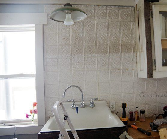 Replacing My Barnwood Shelf With Two Open Shelves Above My Kitchen Sink