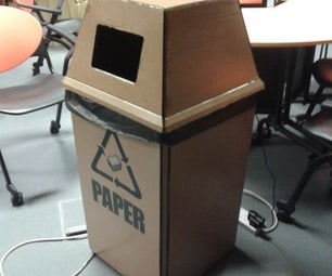 Interactive Recycling Cardboard Bins