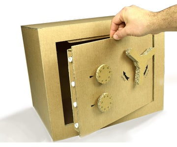 Safe Box With Combination Lock From Cardboard