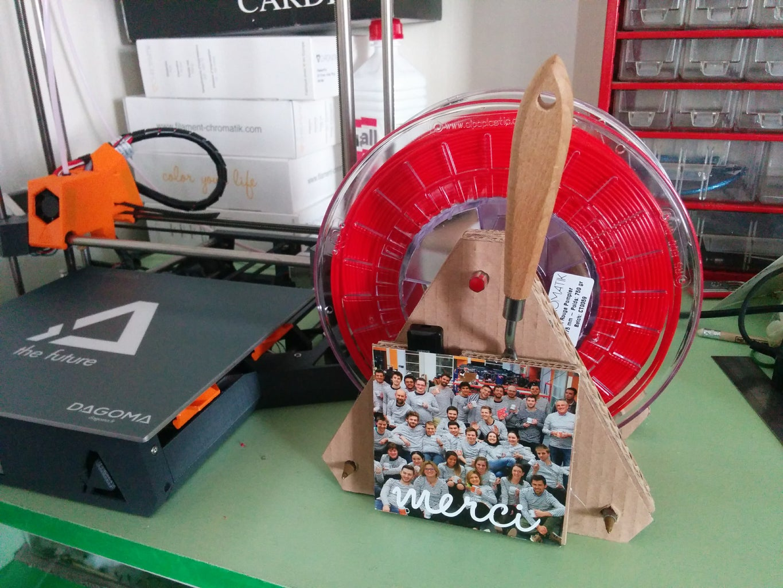 Cardboard Spool Holder