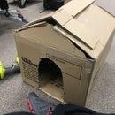 Cardboard Cat bedroom