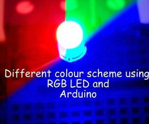 Five Different Colour Scheme Using RGB Led With Arduino