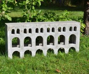 受罗马渡槽启发的混凝土长凳