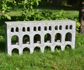 Concrete Bench Inspired by Roman Aqueducts