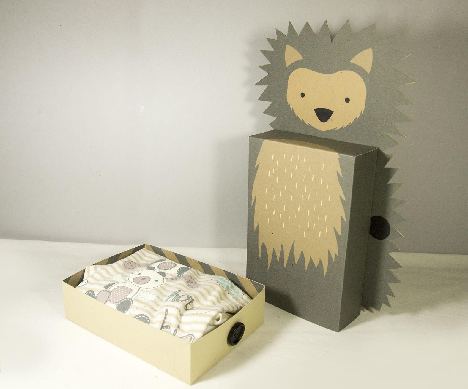 Hedgehog Gift Case for Baby Onesie