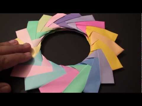 How to Make a Modular Decorative 18 Unit Origami Ring!