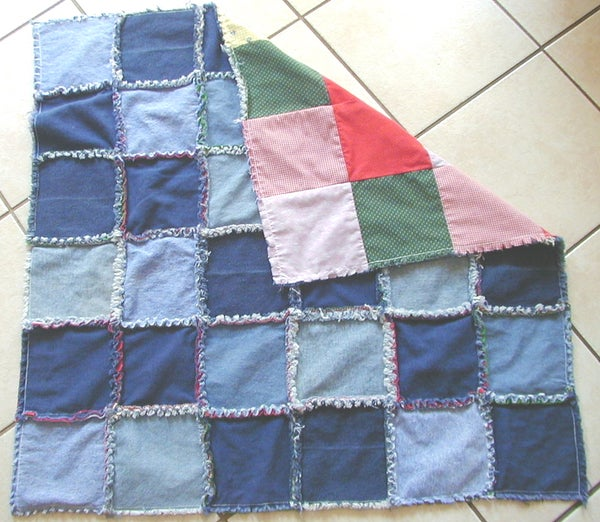 Denim Frayed Lap Quilt