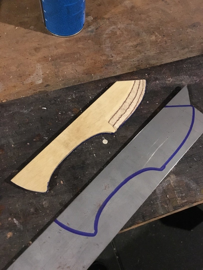 Trace the Template on to the Steel