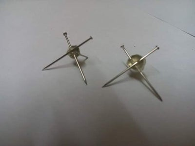 Flat Plate Earrings Stud