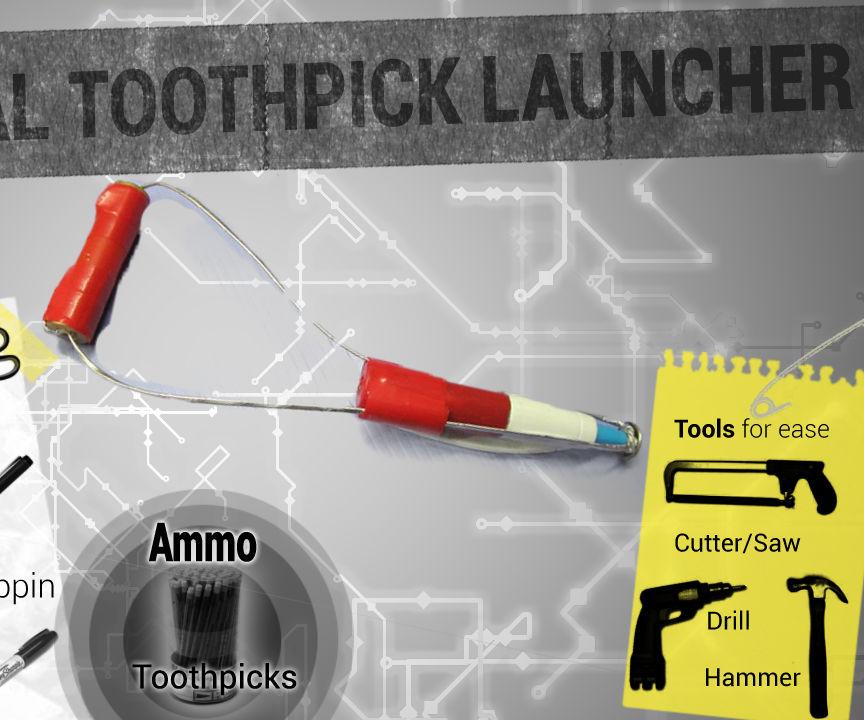 Mechanical Toothpick Launcher