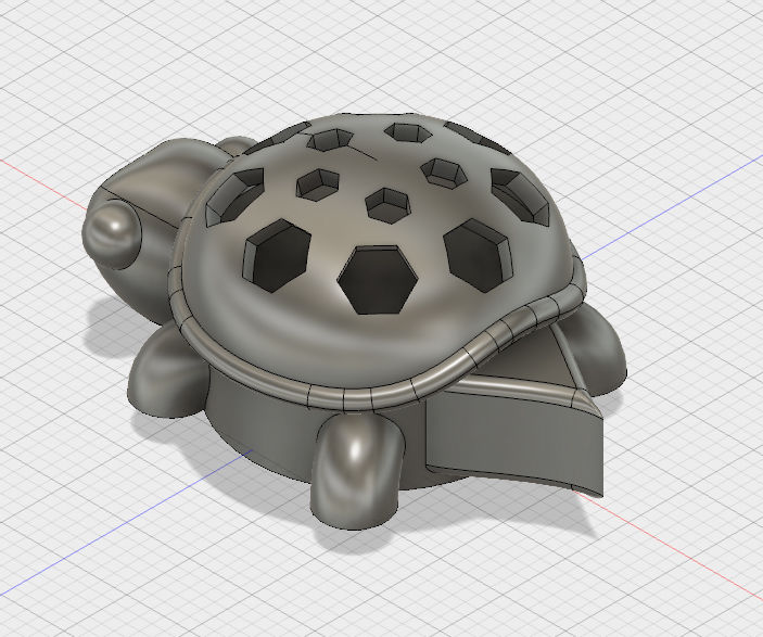 Turtle Flashlight Deodorizer in Fusion 360