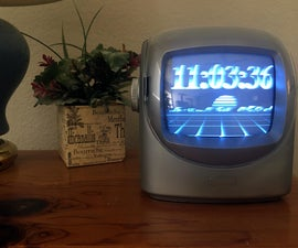 Make an Old TV Into an 80s Themed Clock
