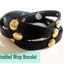 DIY Studded Wrap Bracelet