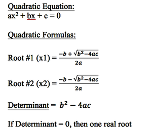 Quadratic Equation Solver in C