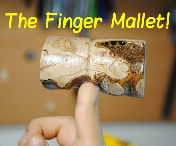 Finger Mallet From a Tree Branch | DIY Woodworking Tools #8