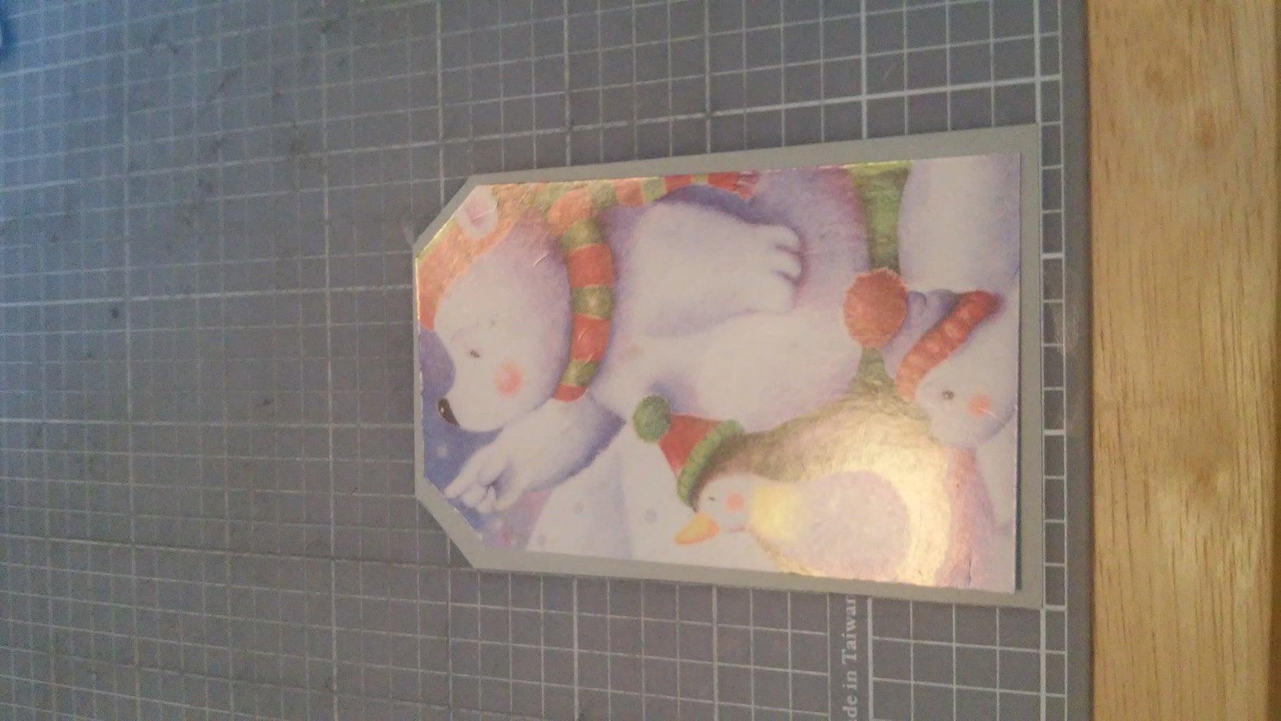 Glue Card to Backing