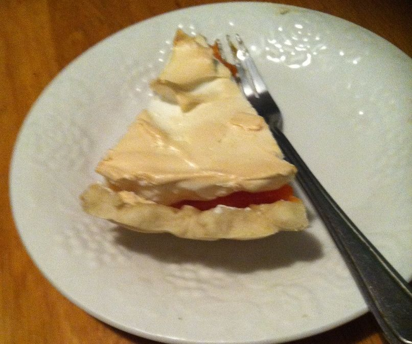 Lip smacking orange meringue pie