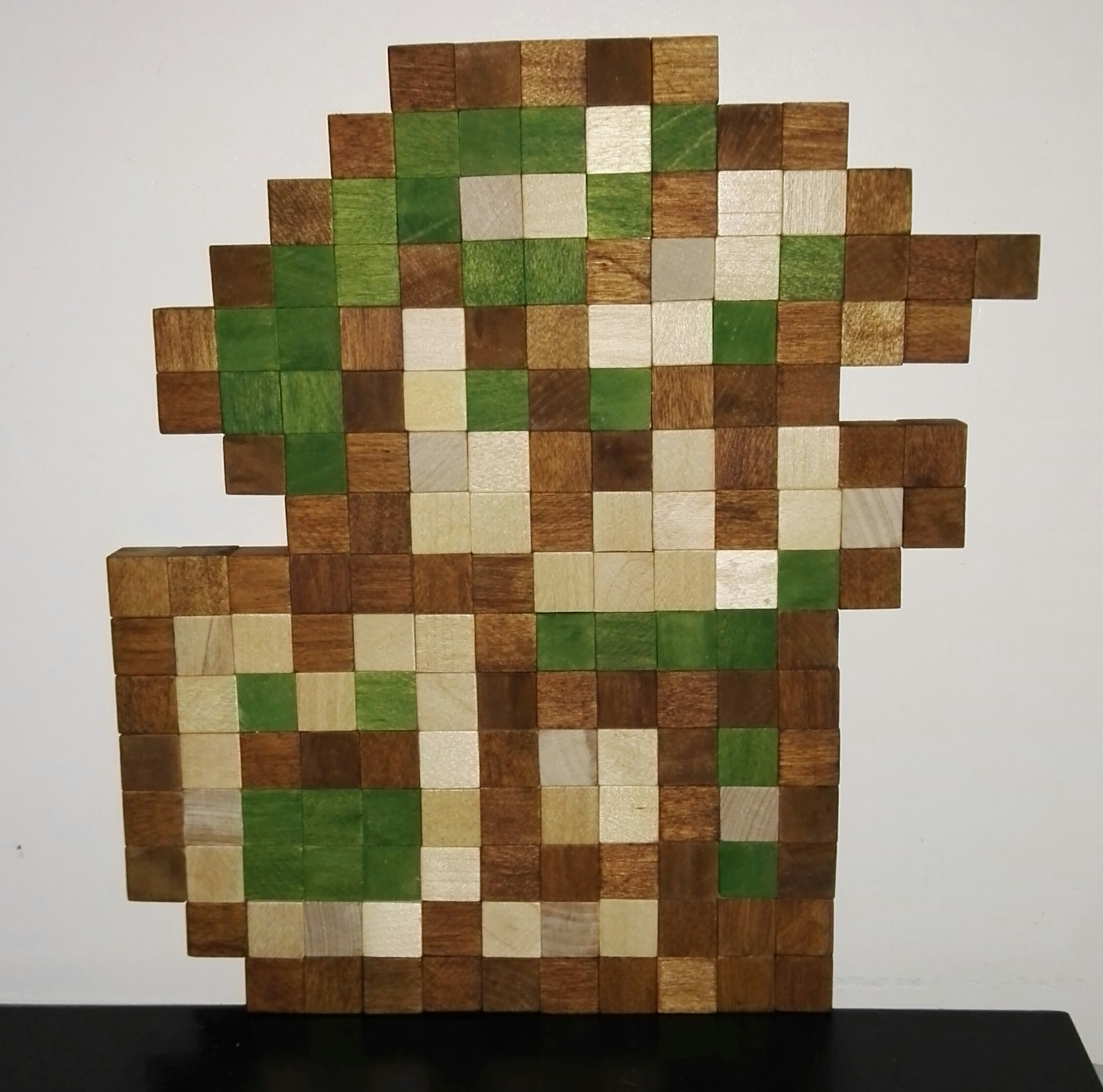 Stained Wood Pixel Art