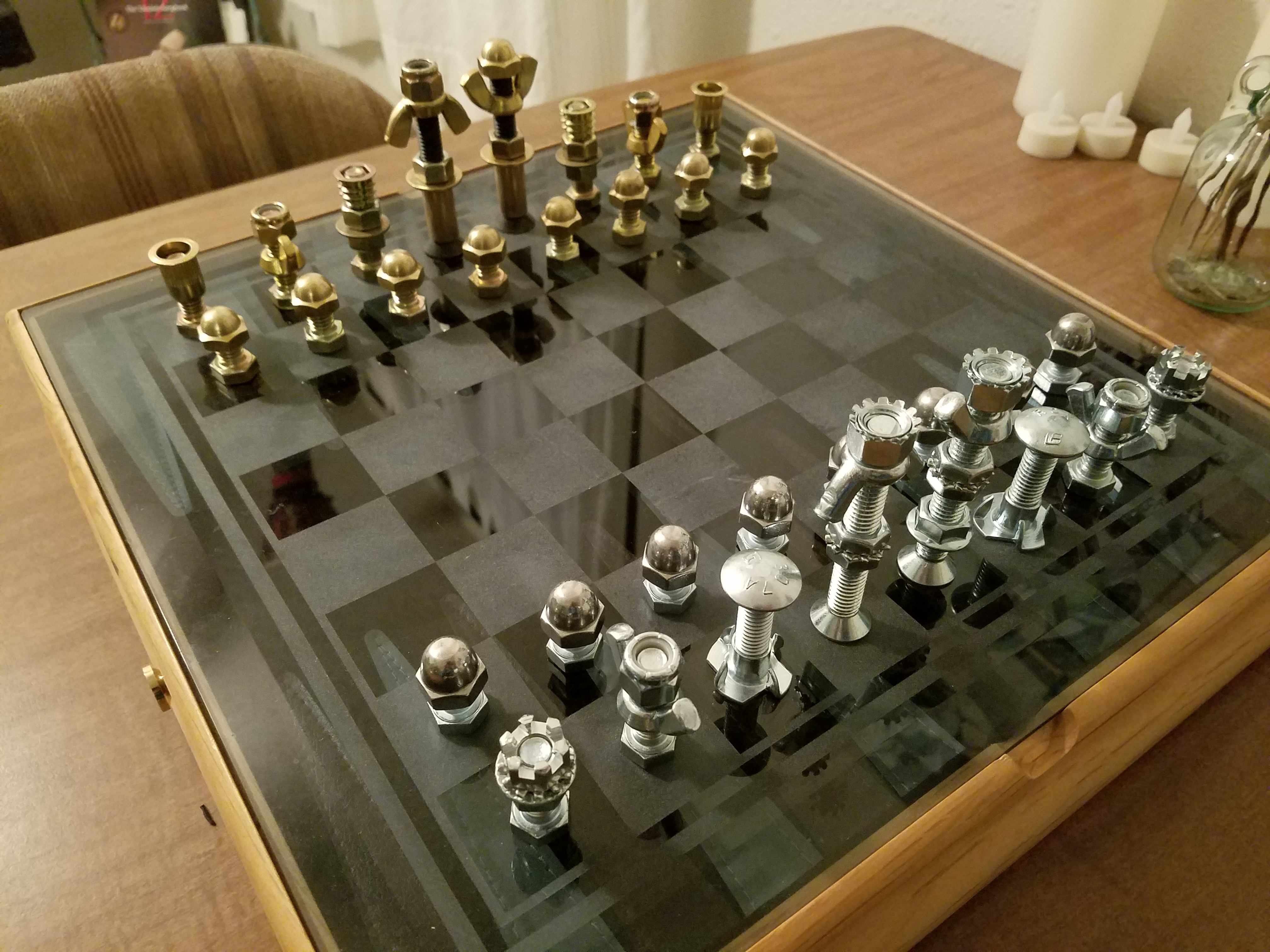 DIY Chess Set With Fasteners