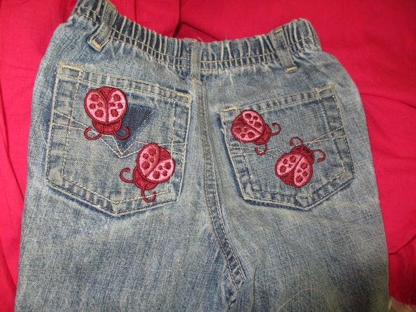 Machine Embroider Jean Pockets