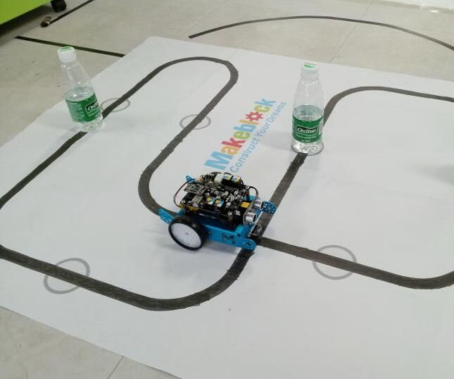 2-in-1 mBot: Line Follower and Object Avoidance