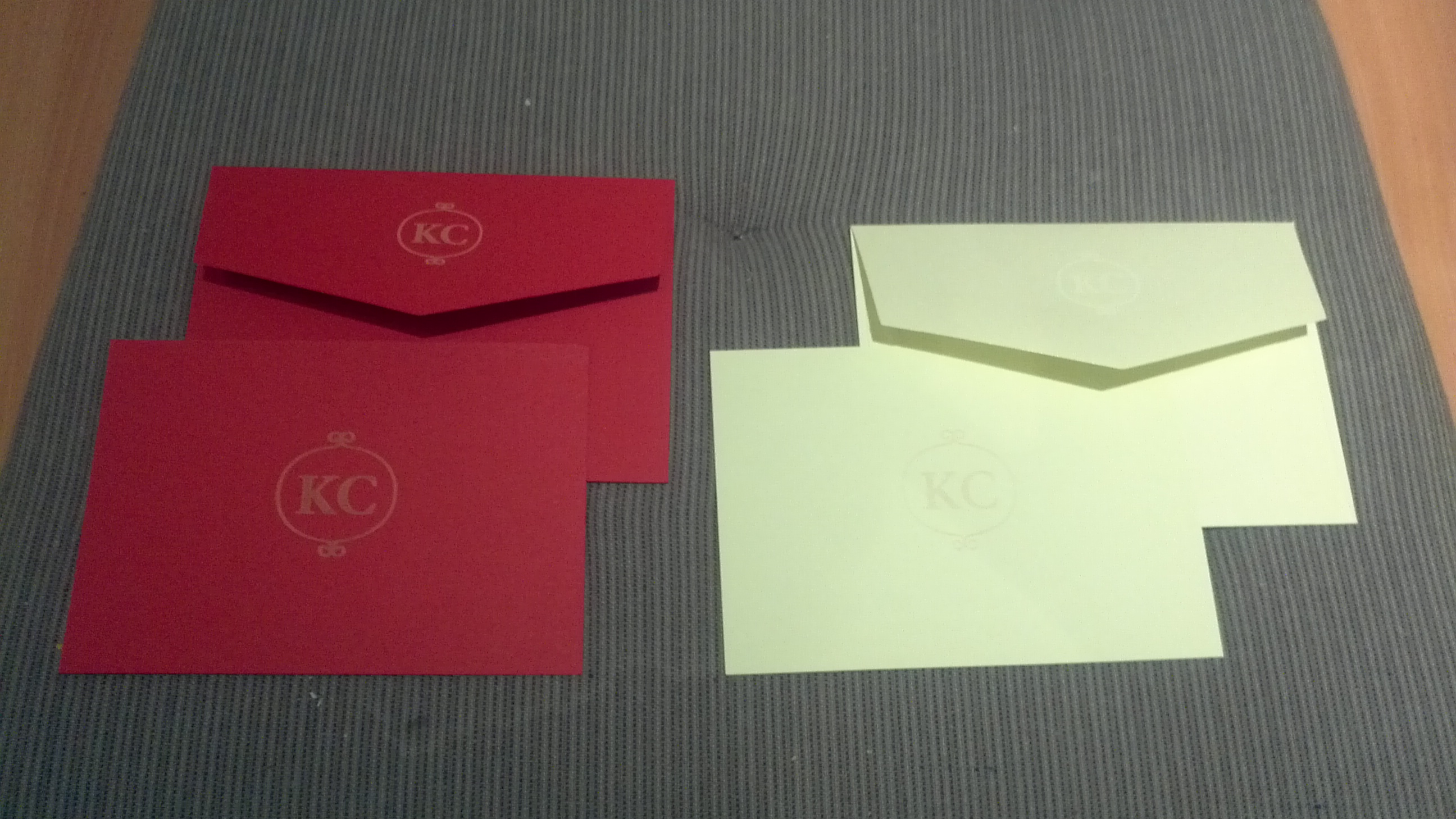 Laser Monogrammed Notecards