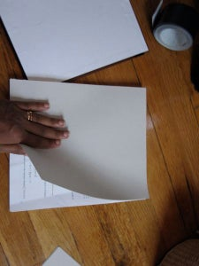 Make a Cardstock Cover for Each Section.