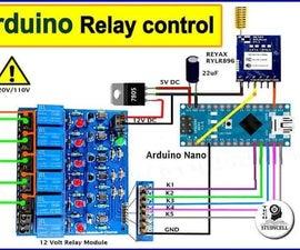 Lora Arduino Control Relay Module Circuit