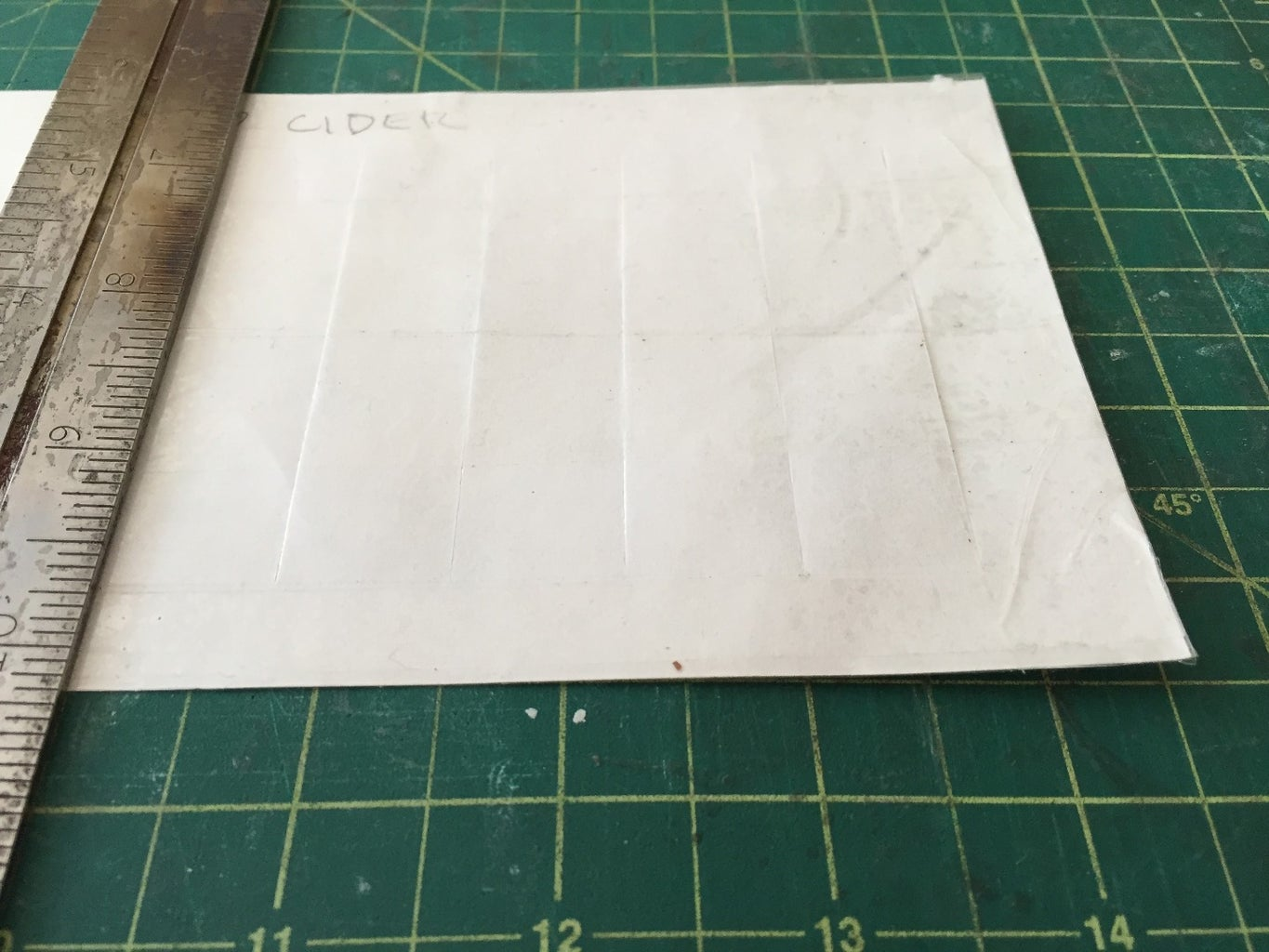 Make Your Cutting Template